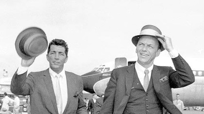 Two of the giants, Dean Martin and Frank Sinatra, in 1961