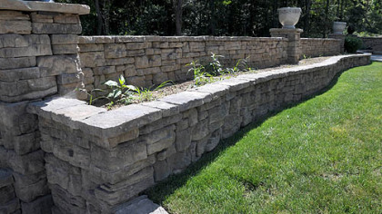 A raised bed was built with 