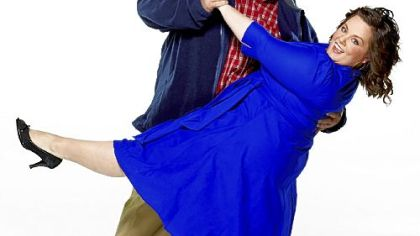 Billy Gardell and Melissa McCarthy dance with romance in the new CBS comedy &quot;Mike & Molly.&quot;