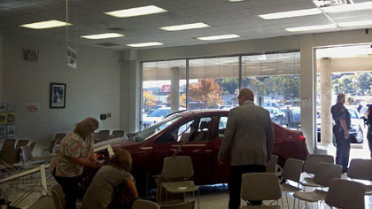 A man crashed into a state Drivers License Center in Collier.