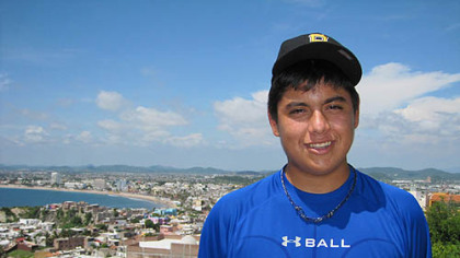 Luis Heredia on a residential hill high atop the heart of Mazatlan, Mexico.