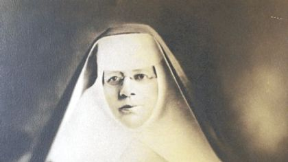 An early 19th century portrait of St. Katharine Drexel from the archives of the Sisters of Mercy in Oakland.