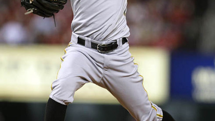 Brian Burres allowed two runs, one earned, in 5 2/3 innings for the Pirates Tuesday at Busch Stadium.