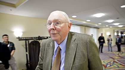 Charles Munger, vice chairman of Berkshire Hathaway Inc.