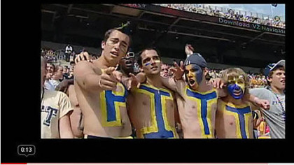 Pitt fans belt out the tune in this YouTube video (posted as &quot;Pitt Sweet Caroline Video&quot;).