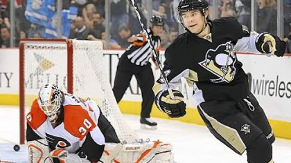 Penguins Chris Kunitz has been credited with 30 hits this season.
