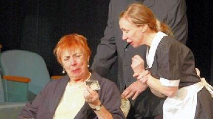"Barbara Russell, left, Tom Merit and Claire Fraley are in ""I'll Get You Later"" at Theatre Festival in Black & White at Pittsburgh Playwrights."