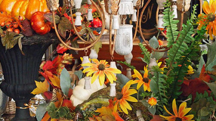 You can make Thanksgiving decorations with items from around the house and yard.