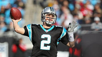 Panthers quarterback Jimmy Clausen has thrown for 1,304 yards this season.