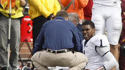 Penn State' quarterback Rob Bolden was scheduled to undergo a series of medical tests Sunday after he was injured in the first half against Minnesota Saturday.