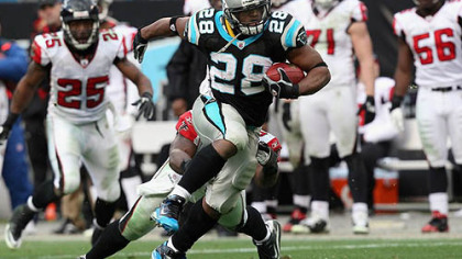 Panthers running back Jonathan Stewart has rushed for 668 yards this season.