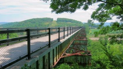 The Salisbury Viaduct near Meyersdale along the Great Allegheny Passage