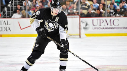 Penguins forward Evgeni Malkin has been sidelined for three games due to a knee injury.