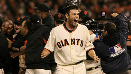 "Former Pirates all-star Freddy Sanchez on the Giants' postseason run: ""It's been crazy out here, just so much fun."""