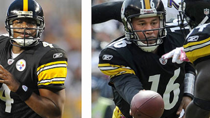 Byron Leftwich: No. 2 of the future. Charlie Batch: No. 2 of the present.