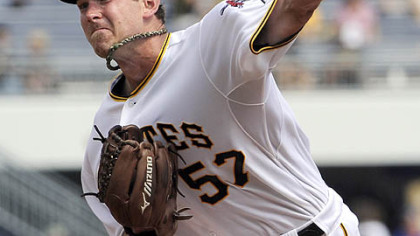 Zach Duke pitches against the New York Mets on Sunday at PNC Park, where the Pirates ended a five-game losing streak with with their 2-1 victory.