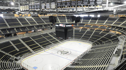 The Penguins will play their first game in Consol Energy Center tonight against the Red Wings.