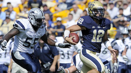 Pitt quarterback Tino Sunseri has thrown for 520 yards this season.