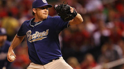 Pitcher Kevin Correia went 10-10 with the Padres last season.