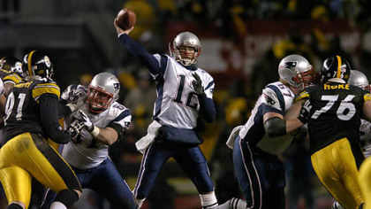 The Patriots and quarterback Tom Brady won the AFC Championship game in 2005 at Heinz Field.