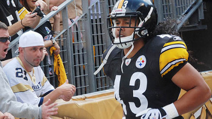 Steelers safety Troy Polamalu has two interceptions this season.
