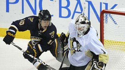Brent Johnson was good in goal again Saturday night for the Penguins. Just not quite good enough in St. Louis.