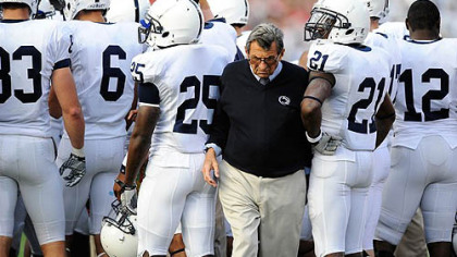 Penn State head coach Joe Paterno.